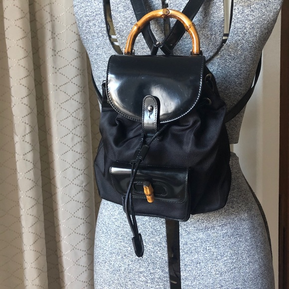 2fe956f2650a53 Gucci Bags | Bamboo Black Mini Backpack | Poshmark